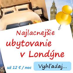 Ubytovanie v Londýne už od 12 €